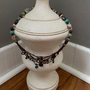 SILPADA Retired Multi-Stone Charm Cord Necklace